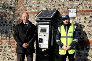 New parking machine in Lewes - a means of getting cash for nothing