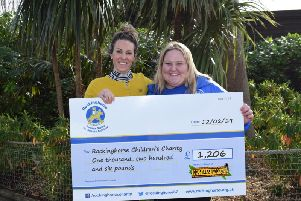 Drusillas Park's director Cassie Poland (left) with Rockinghorse's schools and community fundraising manager Hollie Trezise