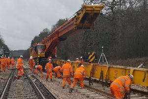 Balcombe track replacements (Photograph: Network Rail)