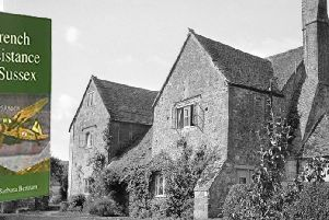 Right: Bignor Manor House in World War II was a secret base for Allied agents awaiting flights to clandestine landing fields in occupied France. Barbara Bertram was the building's housekeeper who later recorded her experiences in a book 'French Resistance in Sussex'. SUS-190227-132457001