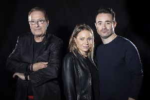 The House on Cold Hill. Peter James, Rita Simons and Joe McFadden. Picture by Helen Maybanks