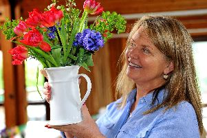 Nancy Strafford at the spring bulb show on Saturday (March 16). Photograph: Steve Robards (SR1907206)