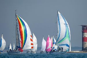 Action from the Round the Island Race. All pictures by Paul Wyeth.