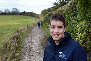 Andy Gattiker, trail officer for the South Downs Way, photo by Anne Purkiss