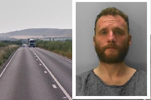 Iraq veteran James French was spotted driving on the wrong side of the A27. Picture: Sussex Police/Google Streetview