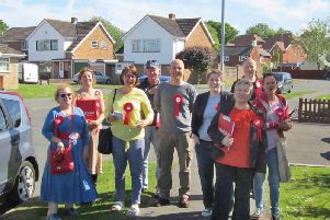 Wealden Labour members canvassing in Hailsham SUS-190415-103454001