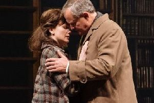 Hugh Bonneville and Liz White in Shadowlands at Chichester Festival Theatre which runs until May 25. Picture by Manuel Harlan
