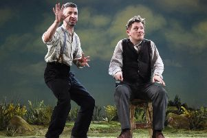 Owen Sharpe as Jake Quinn and Kevin Trainor as Charlie Conlon. Picture by Nobby Clark