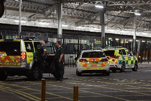 Emergency services were at the scene of the incident last night. Picture: Dan Jessup