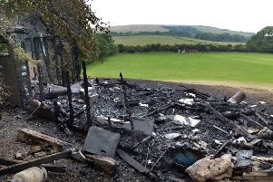 Jevington Cricket Clubhouse burnt to the ground (Photo by Jon Rigby) SUS-190620-081237008
