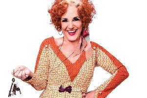 Lesley Joseph as Miss Hannigan. Picture by Matt Crockett