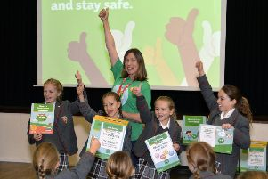NSPCC and students at Moira House School in Eastbourne