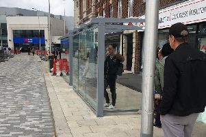 """Bus shelters installed the """"wrong way around"""" in Cornfield Road, Eastbourne"""