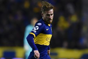 Brighton & Hove Albion midfielder Alexis Mac Allister in action for Boca Juniors. Picture courtesy of Getty Images