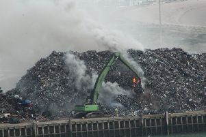 The blaze at H. Ripley scrapyard in Newhaven