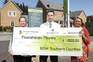 Peacehaven Players Theatre Group has been sponsored by Barratt Homes