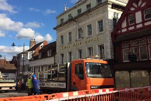 Lewes High Street has reopened