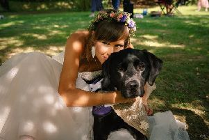 Ethan walked Sally down the aisle on her wedding day