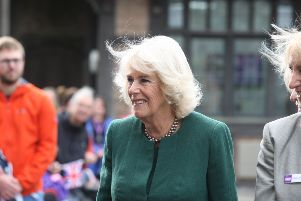The Duchess of Cornwall at Chailey Heritage Foundation. Photograph: Derek Martin