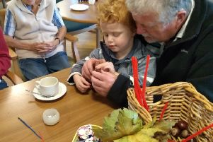 Uckfield care home host an Autumn morning of arts and crafts fun for all ages