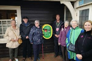 Gemma Mantell and Simeon Marsh, National Trust; Ian and Pat Hodgson, Janet Dearnley, Clare Pont, Pam Bott, Eastbourne National Trust Association