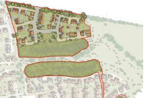 Site layout for the northern porton of the site