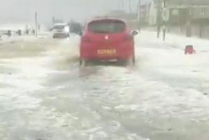 Flooding in Seaford. Picture: 'Samantha Forse