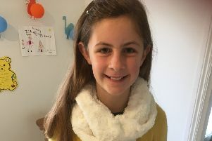Young entrepreneur, Alice Dryden, who made Halloween keyrings for Cancer Research