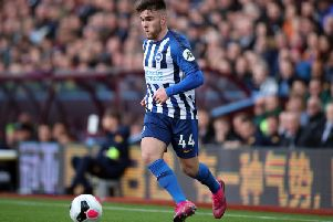 Brighton and Hove Albion striker Aaron Connolly sustained a groin injury against Manchester United and is ruled out for the Republic of Ireland