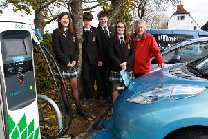 Ringmer reisdent Harvey Linehan with a group of Eco Reps from King's Academy Ringmer, photo by Jamie Peacock