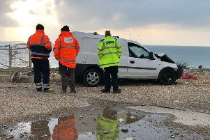 Emergency services at Birling Gap. Photo by Lewis Isted.