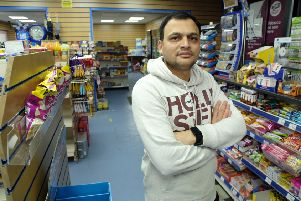 Neel Shets, owner of Ashington Stores, Peacehaven. Picture: Peter Cripps