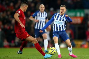 Brighton and Hove Albion winger Leandro Trossard made a positive impact from the bench for Brighton against Liverpool