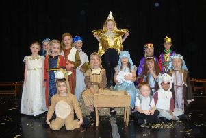 Year 1 pupils from Grovelands Community Primary School wearing their nativity costumes
