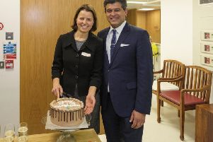Marcela Espinosa-Lagana and Sheraz Daya mark 10 years of Centre for Sight in East Grinstead