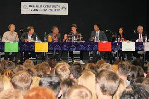 Election candidates at Uckfield college's mock election