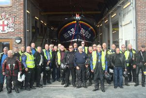 Sussex British Motorcycle Owners Club members supporting the RNLI at Selsey on one of its Friday Gathering runs