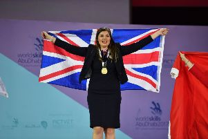 Kaiya Swain won gold at the WorldSkills Abu Dhabi competition in 2017