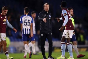 Graham Potter's Brighton lost against Aston Villa in the Carabao Cup earlier this season and also in the Premier League at Villa Park