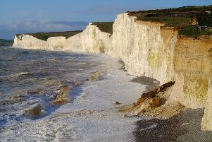 Cliff fall at Birling Gap. Photo by Peter Cripps