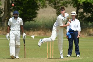 Matt Renshaw bowling his off-spin for Dinton in 2014