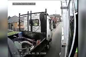 CCTV footage shows reckless driving around refuse lorries