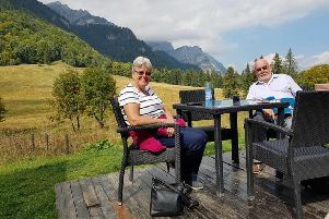 Nigel and Alison Champken-Woods at Sinaia's Royal Meadow