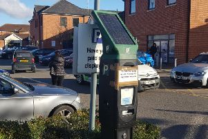 The ticket machine in question at Aylesbury Shopping Retail Park