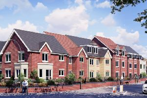 Artist's impression of the new development in Greyhound Lane.