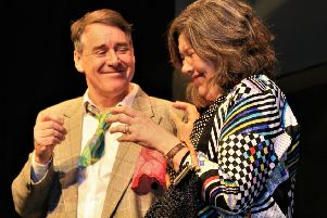 Andy Dale and Jude Rogers in Two at the Players Theatre