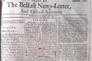 The Belfast News Letter of July 13 1739 (July 24 in modern calendar)