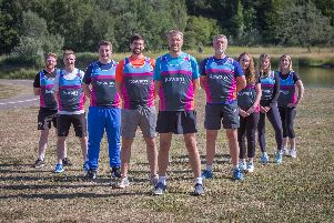 Some of The News team taking part in the Great South Run. David George is third from the left