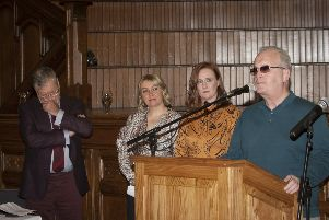 """Guest speaker Richard Moore addresses the attendance at Tuesday�""""s Children of the Troubles book launch in Derry�""""s Guildhall. (Photos: Jim McCafferty Photography)"""