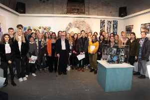 Winners and entrants of the Farleys Arts Trust Awards with Sir Peter Blake